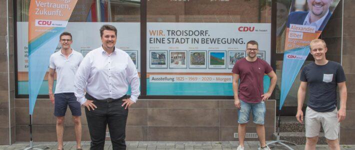 Idee der Jungen Union Troisdorf realisiert – Popup Store öffnet in der Fußgängerzone
