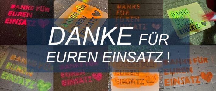 """""""DANKE FÜR EUREN EINSATZ!"""" – AKTION DER JUNGEN UNION TROISDORF"""